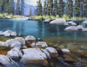 """Crystal Clear - Wyoming 11"""" x 14"""" oil painting by Tom Haas"""
