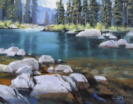 "Crystal Clear - Wyoming 11"" x 14"" oil painting by Tom Haas"