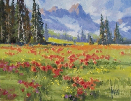 """High Meadow - Colorado 11"""" x 14"""" oil painting by Tom Haas"""