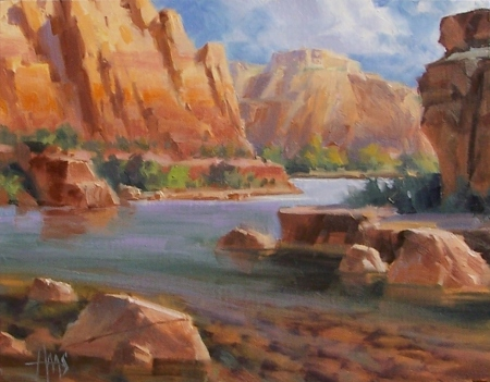 "Slow Bend - Arizona 11"" x 14"" oil painting by Tom Haas"