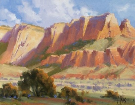 "Coconino Red - Sedona 11"" x 14"" oil painting by Tom Haas"