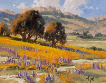 "Sonoita Hills - Arizona 11"" x 14"" oil painting by Tom Haas"