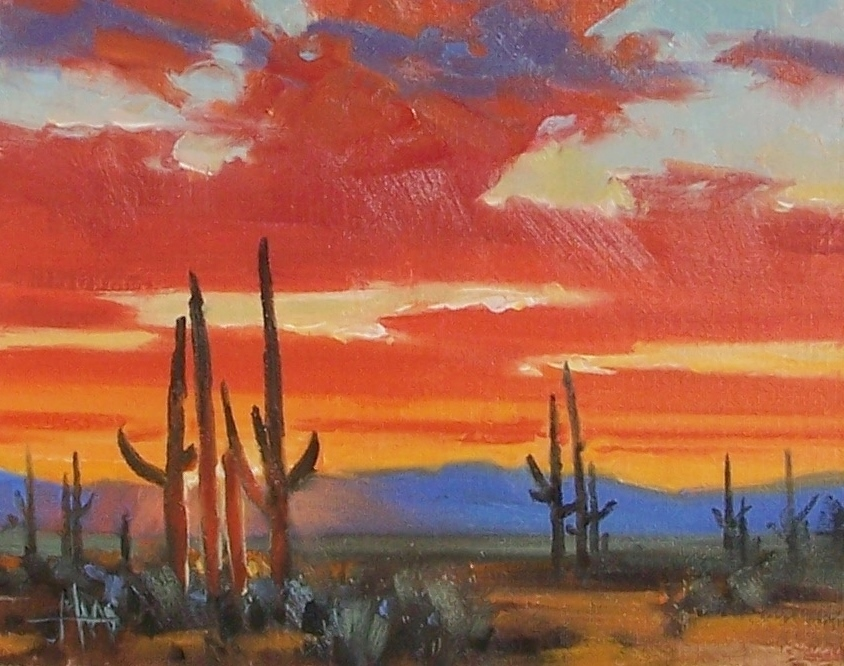 "Arizona 8"" x 10"" oil painting by Tom Haas"