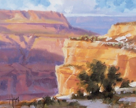 """Canyon Shadows - Grand Canyon 8"""" x 10"""" oil painting by Tom Haas"""