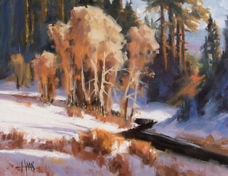 "Coyote Creek - Arizona 11"" x 14"" oil painting by Tom Haas"