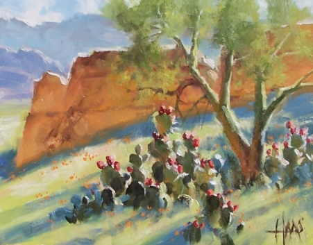 """Prickly Pears - Arizona 11"""" x 14"""" oil painting by Tom Haas"""