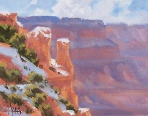 """Rim Trail - Grand Canyon 8"""" x 10"""" oil painting by Tom Haas"""