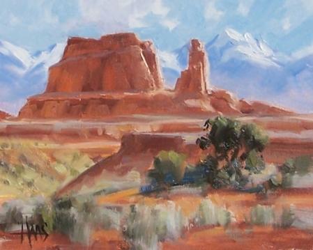"Skyscrapers 8"" x 10"" oil painting by Tom Haas"