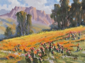 """Southwest Spring - Arizona 12"""" x 16"""" oil painting by Tom Haas"""