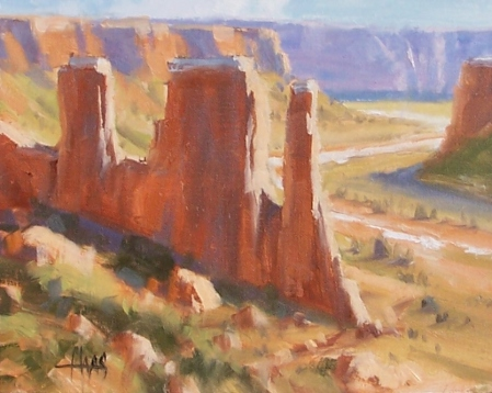 """Windswept - Canyonlands, Utah 8"""" x 10"""" oil painting by Tom Haas"""