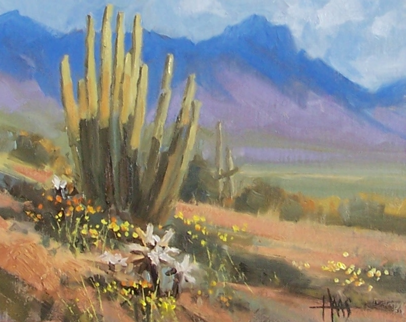"""North of Ajo - Arizona 8"""" x 10"""" oil painting by Tom Haas"""