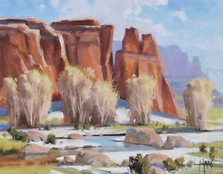 "North of Santa Fe 11"" x 14"" oil painting by Tom Haas"