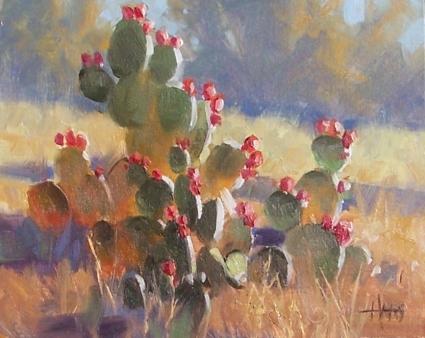 "Pear Season - Arizona 8"" x 10"" oil painting by Tom Haas"