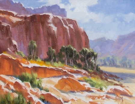 "Uplifted - Arizona 11"" x 14"" oil painting by Tom Haas"