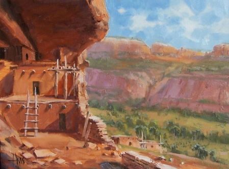 "Above the Valley - Arizona 12"" x 16"" oil painting by Tom Haas"
