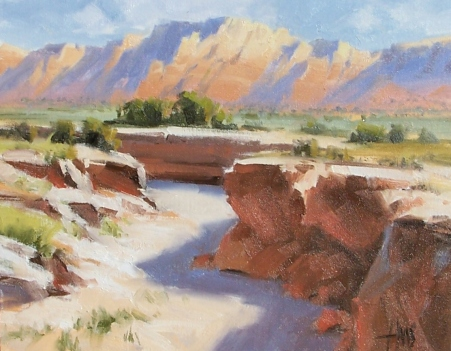 "Bitter springs - Vermillion Cliffs Arizona 11"" x 14"" oil painting by Tom Haas"