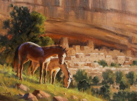 "Canyon Abundance - Mesa Verde 12"" x 16"" oil painting by Tom Haas"