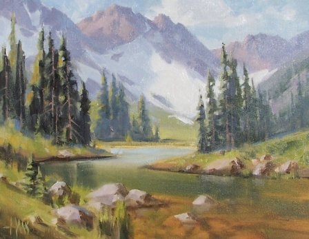 """Through the Pass - Colorado 11"""" x 14"""" oil painting by Tom Haas"""