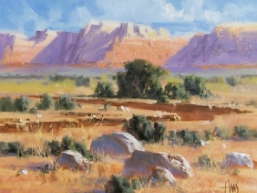 "Vermillion Cliffs - Arizona 11"" x 14"" oil painting by Tom Haas"