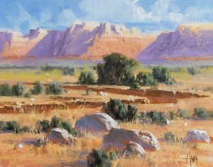 "Vermillion Cliffs - Arizona 11"" x 14"" oil painting by Tom Haas"