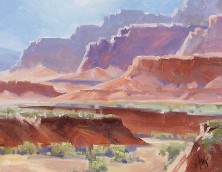 """West of Ganado - Arizona 11"""" x 14"""" oil painting by Tom Haas"""