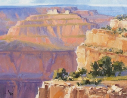 """Above the Colorado - Grand Canyon 11"""" x 14"""" oil painting by Tom Haas"""