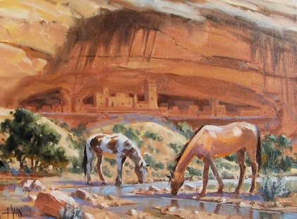 """Canyon del Muerto - Arizona 12"""" x 16"""" oil painting by Tom Haas"""