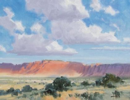 "Navajo Breezes - Red Mesa Arizona 11"" x 14"" oil painting by Tom Haas"