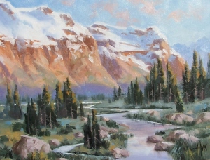 """Spring Melt - Wyoming 11"""" x 14"""" oil painting by Tom Haas"""