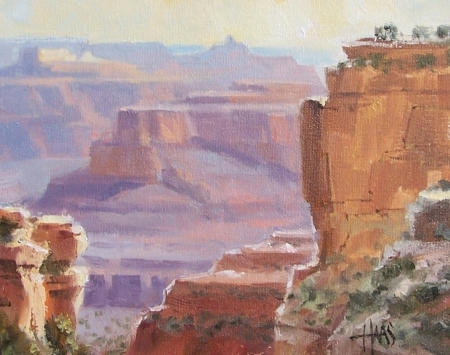 """Arizona Gem - Grand Canyon 8"""" x 10"""" oil painting by Tom Haas"""