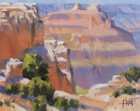 """Canyon Temples - Grand Canyon 8"""" x 10"""" oil painting by Tom Haas"""