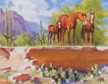 "Free Range - Arizona 11"" x 14"" oil painting by Tom Haas"