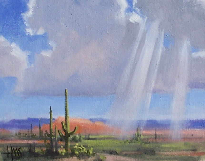 "Hopeful - Arizona 8"" x 10"" oil painting by Tom Haas"
