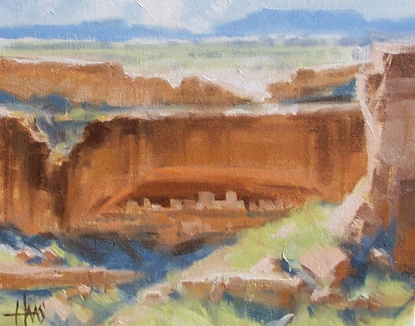 "Mesa Cliffs - Arizona 8"" x 10"" oil painting by Tom Haas"