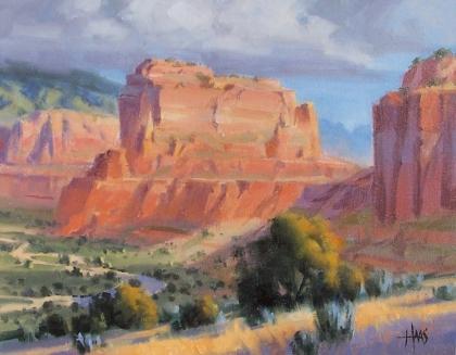 """Terra Rosa - Sedona Arizona 11"""" x 14"""" oil painting by Tom Haas"""