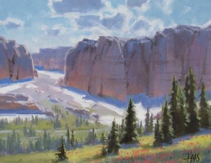 "Wind River Range - Wyoming 11"" x 14"" oil painting by Tom Haas"