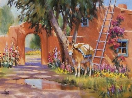 "Backyard Shade 12"" x 16"" oil painting by Tom Haas"