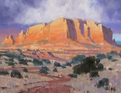 "Desert Pizazz - Arizona 11"" x 14"" oil painting by Tom Haas"