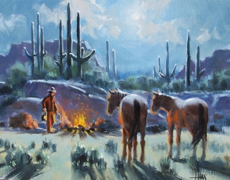 """Time for Oats - Arizona 11"""" x 14"""" oil painting by Tom Haas"""