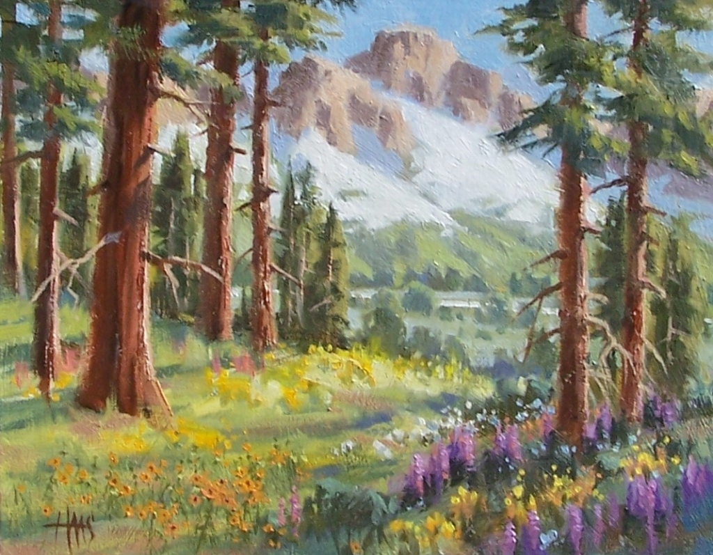 """Back Country - Colorado 11"""" x 14"""" oil painting by Tom Haas"""