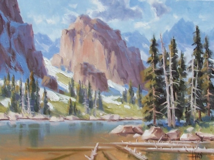 """Range of Light - Wyoming 12"""" x 16"""" oil painting by Tom Haas"""