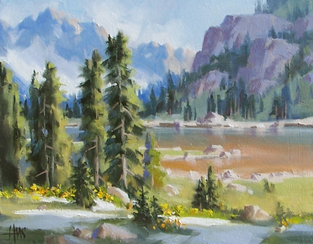 """Warming Up - Colorado 11"""" x 14"""" oil painting by Tom Haas"""