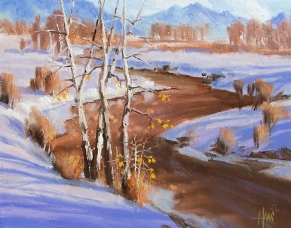 """Winding Down - Colorado 11"""" x 14"""" oil painting by Tom Haas"""