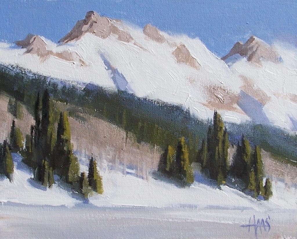 """Below Zero - Colorado 8"""" x 10"""" oil painting by Tom Haas"""