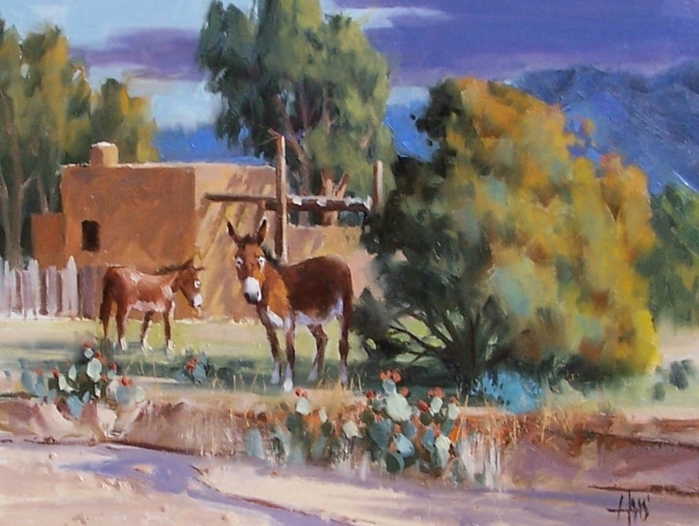 """Block Watch - New Mexico 12"""" x 16"""" oil painting by Tom Haas"""