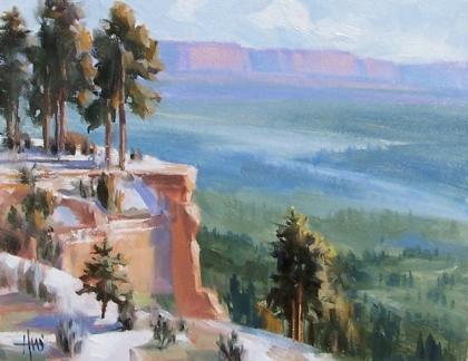 """Rim to Rim - Mogollon Rim 11"""" x 14"""" oil painting by Tom Haas"""