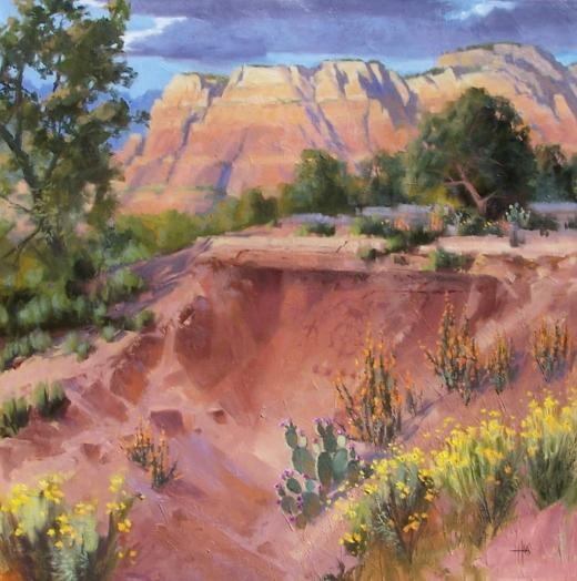 "Sedona - Arizona 48"" x 48"" oil painting by Tom Haas"
