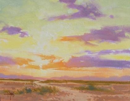 "Horizon - Arizona 11"" x 14"" oil painting by Tom Haas"