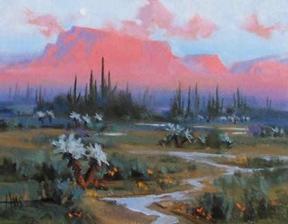 "Magic Hour - Arizona 11"" x 14"" oil painting by Tom Haas"