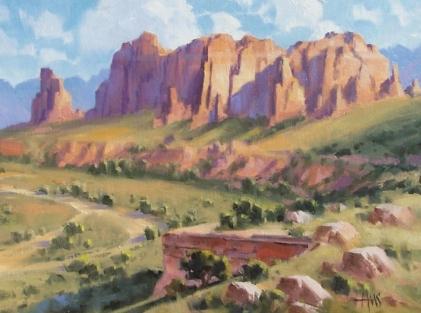 "Sedona - Verde Valley 12"" x16"" oil painting by Tom Haas"